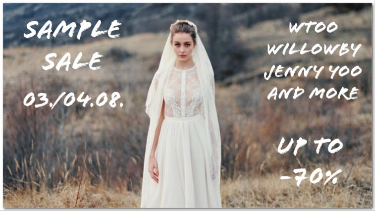 Save the date:  Sample Sale